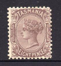 Tasmania: 8d Purple Brown Sideface Qv Sg 255a Perf 11 Wmk Ca Mh