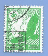 Germany Third Reich Nazi 1934 Nazi Swastika Eagle Luftpost 5 Stamp WW2 ERA #2