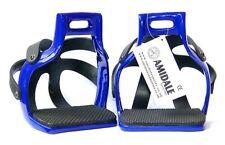 Amidale aluminium flexible ROULER EN CAGE sécurité cheval étriers bleu marine