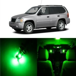 12 x Green LED Interior Light Package For 2002 - 2009 GMC Envoy + PRY TOOL