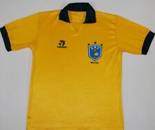 1988-1991 BRAZIL TOPPER HOME FOOTBALL SHIRT (SIZE M)