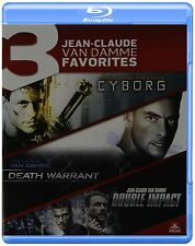 CYBORG / DEATH WARRANT / DOUBLE IMPACT  -  Blu Ray - Sealed Region free for UK