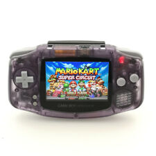 Clear Purple 10 Levels brightness Backlit V2 iPS LCD GameBoy Advance GBA Console