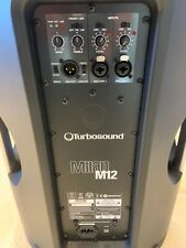 More details for pair turbosound m12 milan powered (1100w each) speakers + stands + covers - used