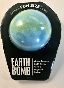 Bath Bomb Da Bomb Fun Size Earth With Surprise Inside Sea Breeze 3.5 oz