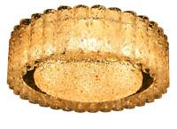 Doria Decken Leuchter Glas Röhrchen Lampe Lüster Ø 46 cm Vintage 60er Jahre