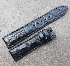 Strap Band - Black #5600 20mm/18mm Genuine Crocodile Leather Skin Watch