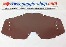 GOGGLE-SHOP DRILLED ROLL-OFF LENS DARK SMOKE to fit 100% MOTOCROSS MX GOGGLES
