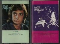 BARRY MANILOW 2 CASSETTE TAPE LOT I and II  (1 and 2) RARE PAPER LABELS