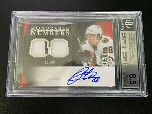 Patrick Kane Rookie 2007-08 The Cup Honorable Numbers  #11/88 BGS 8.5/10