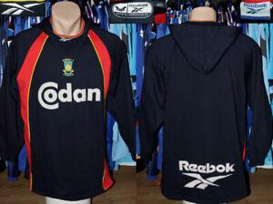 Signed Vintage Brondby IF Denmark Reebok 1997/1999 Hoodie Hooded Sweatshirt Top