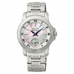Seiko Premier Women's Watch Ladies Stainless Steel Bracelet Pearl Dial SRKZ6