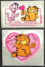 Vintage Garfield Stickers - 2 Mods - Sweethearts - Mint Condition!!