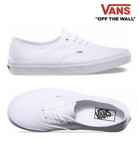 Vans New Authentic Classic VN000EE3W00 White Men Canvas Sneakers Casual Shoes