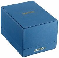 SEIKO New Empty Tall Blue Presentation Watch Gift Box With Original Seiko Pillow