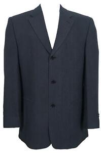 NEW Jhane Barnes Sportcoat Blazer!  44 R  Blue Black Stripe  Heavy Weight  ITALY