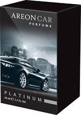 Air Freshener AREON Lux Perfume Platinum 50ml. Scent Tree Auto Scent Perfume