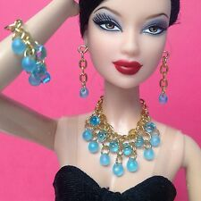 Doll Jewelry For Silkstone Barbie Fashion Royalty Yellow S847