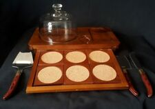 Vintage Himark Cheese Board set, Wine Coasters & Laguiole L' Eclair 440 Cutlery