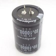 1PC AUDIO Electrolytic Capacitor PANASONIC 105 drgee 35*50mm 10000UF 80V T @