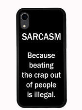 Sarcasm Defintion Black And White For Iphone XR 6.1 2018 Case