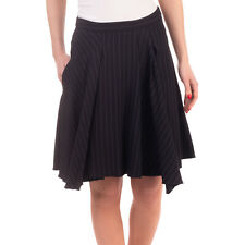 RRP €315 DOROTHEE SCHUMACHER Skater Skirt Size 1 Pinstripe Ruffled Gathered