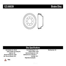 Brake Drum Rear Centric 123.66039
