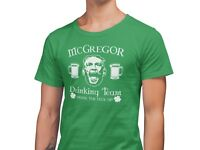 Conor Mcgregor Drinking Team St Patrick's Day T-Shirt Unisex Green Shirt