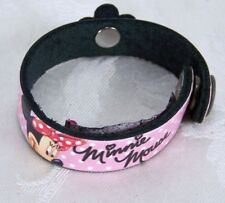 """Disney Minnie Mouse Leather Treaty Bracelet NAME Carabella Youth Small 7"""""""