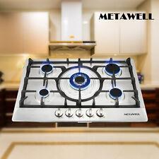 "Metawell 30"" Stainless Steel 5Burner Built-In Stoves Ng Lpg Gas Cooktops Cooker"