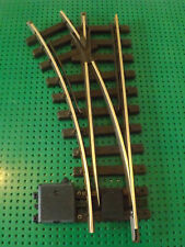 LGB POINTS G SCALE MODEL RAILWAY BRASS TRACK R600  LEFT HAND MANUAL POINT
