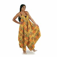 African Traditional Kente Women's Jumpsuit Dress Clothing #1 ( Multi Color )