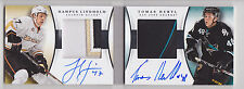 HAMPUS LINDHOLM TOMAS HERTL 2013-14 National Treasures Rookie Patch Auto /50 RC