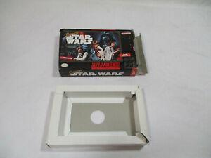 SUPER STAR WARS Super Nintendo SNES Authentic Box And Insert NO GAME CART!