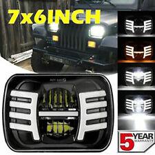 """5x7"""" 7x6"""" LED Hi-Lo DRL H6054 Headlight Wing fit Toyota Nissan Pickup Hardbody"""