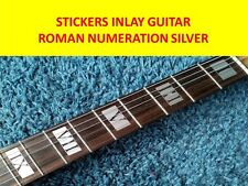 STICKERS INLAY ROMAN NUMERATION SILVER FRET MARKERS GUITAR VISIT OUR NEW STORE