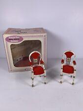 Vintage Dollhouse Furniture Ideal Princess Patti 2 Host Dining Chairs w/Box