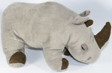 Cute BORN IN AFRICA GRAY RHINO STUFFED PLUSH Animal SOFT TOY Rhinoceros