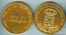 Luxembourg:Eiere-Plack vun der UGDA,Gold 50 mm