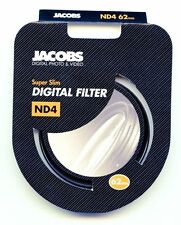 Jacobs 62mm ND4 Super Slim Neutral Density High Quality Glass Camera Filter - UK