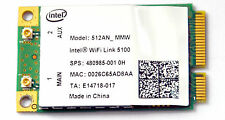 Intel 5100 512AN_MMW WIFI Doppio Band 300 Mbps Wireless-N PCI-e scheda di rete