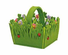 Filzkorb Blumen mit Henkel, Frühlingsdekoration, Ostern
