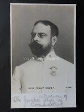 More details for john phillip sousa american composer & conductor c1903 ub rp postcard apps 177