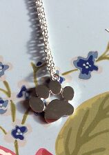 Silver Plated Paw Print Animals Pendant Necklace Ladies Cute Xmas Dog Cat