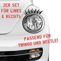Auto Aufkleber 1 PAAR WIMPERN Scheinwerfer Beetle Twingo Set Sticker Augen 350