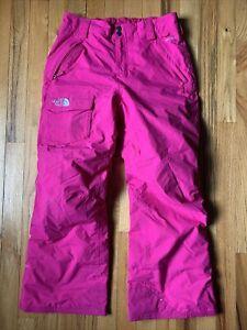 Girls North Face Snow Pants Size L (14-16) Ski Snowboard Hyvent VGUC