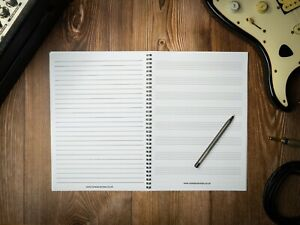 A4 Music Notebook 8 Manuscript Staves and Lined Note Paper - Staff Gift Piano