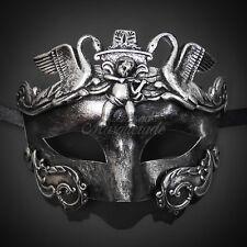 Hercules Roman Venetian Masquerade Mask for Men Silver