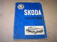 Skoda MB 1000 Ersatzteil Katalog Ersatzteilliste 1967