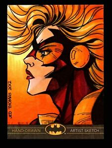 DC Comics Batman: The Legend 2013 Cryptozoic Sketch Card by Jed Thomas